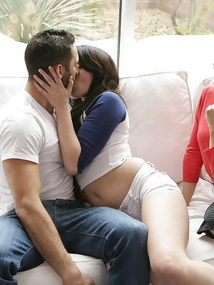 Cassidy Klein visits Megan Sage and Damon Dice to discuss the details of a school dance, but soon the attraction between Damon and Megan catches Cassidy's interest. She encourages them to start kissing, and then doesn't hesitate to join in on the fun. Soo