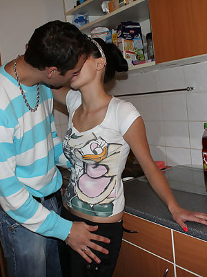 Nice sex in the kitchen