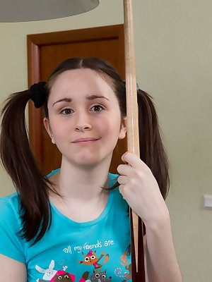 Tri looks sweeter than ever with her pig tails and she knows it. She loves to lure men in with her youthful appearance and then shock them with her incredibly hairy pussy!