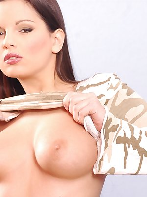Dildo fucking her tight shaven pussy