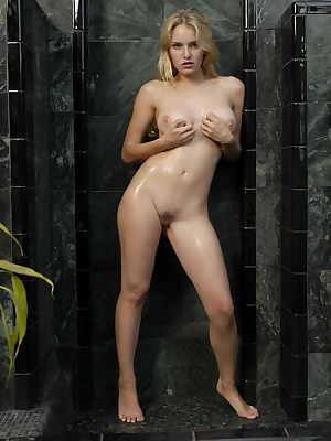 Stunning blonde bares all for you