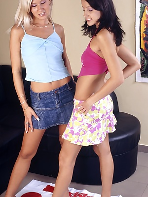 Sizzling hot lesbian action