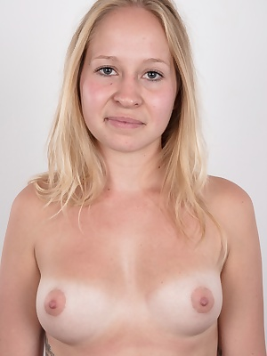 We've got another fresh Czech amateur for you. A cute young blonde with a sweet ass. She is called Veronika and she loves big hard cocks. She jumped our cameraman without a warning, pulled his cock out of his pants and started polishing it like it wa