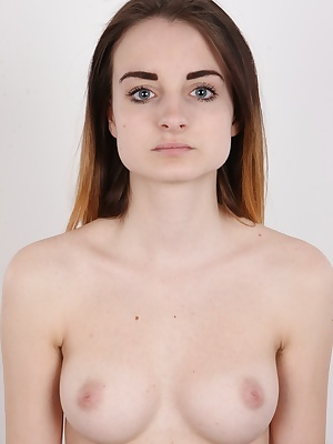 Here's a present for you! A lovely 18 years old girl, in front of camera for the first time!!! The real Czech amateur will take your breath away. Slim body, amazing boobs and unbelievably tight pussy. She could have been the tightest one we have had