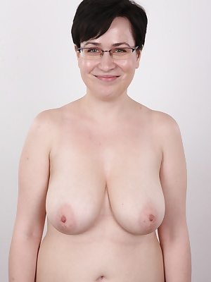 We have yet another Czech girl fresh from the street for you. Her name is Jana and her main asset are amazing natural tits size 4. Likable girl in glasses came to confess here. She said she was a nice girl who didn't fuck strangers for money. Bullshi