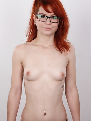 It was scorching hot here today. We had some fresh blood at the casting. Katerina, a red-haired Czech amateur. She shoved a hand between her hands and started to fine-tune her pussy straight away. She got turned on so much she was moaning with excitement