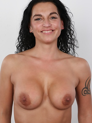 """Get your cock ready! Marketa is about to unleash her slut skills! Her eyes yell: """"""""Fuck me right now!"""""""" She is an owner of a slim athletic body, her tits are on the verge of falling out her tight tank top, and her crotch it hot like he"""