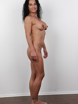 "Get your cock ready! Marketa is about to unleash her slut skills! Her eyes yell: """"Fuck me right now!"""" She is an owner of a slim athletic body, her tits are on the verge of falling out her tight tank top, and her crotch it hot like he"