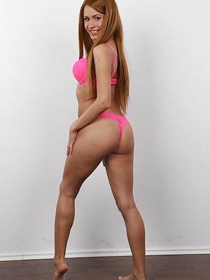 Such a doll! Lovely Tereza would like to be a cherished star. She decided to sell her perfect smile, shapely body and amazingly curving butt for money. Money is what moves the world, isn't it? Her pussy is insatiable! She'll show you a breath-ta
