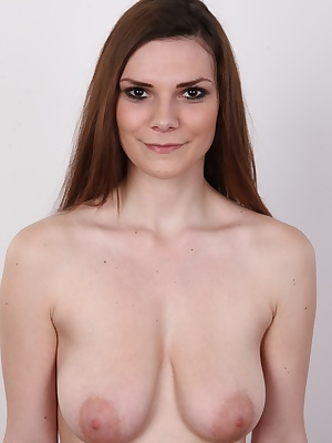 She's beautiful, just came of age, busty and willing to do anything. This is a dream come true of all guys. This is Karolina. A Czech amateur who came to see the legendary white sofa. A perverted schoolgirl who prefers older men and likes to be treat