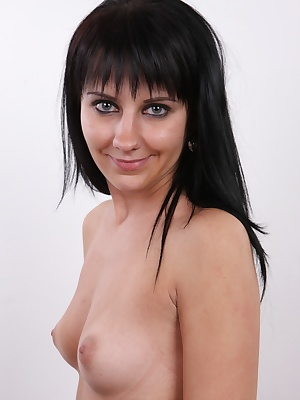 Welcome my friends, into the world of vivid dreams and fantasies coming true. Today we offer you Lucie, a shy brunette with adorable body, sweet little ass and innocent face. Lucie just loves sex and that's why she decided she could use her biggest hobby