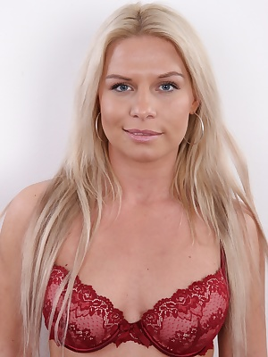 Welcome, friends of casting! Today we are proud to present you Katerina, a 28 years old photographer who decided to become a model too. Katerina is tall, blonde and endowed with a pair of huge tits. Good start for a model, right? She also knows the busine