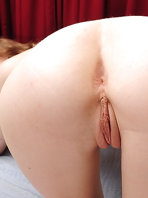 Slim amateur with perky tits undressing and exposing her sweet pussy
