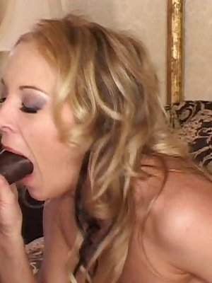 This white chick just needs constant drilling by black dick to make her cum