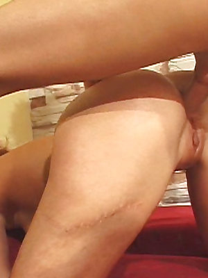 Cute blonde takes an anal drilling and gets a creampie