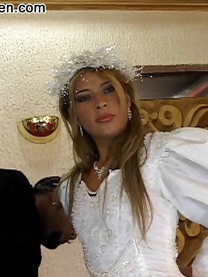Latina bride gets fucked on the wedding night