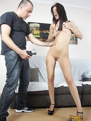 We strongly recommend you to watch how this sexy babe moans during intensive pussy-drilling.