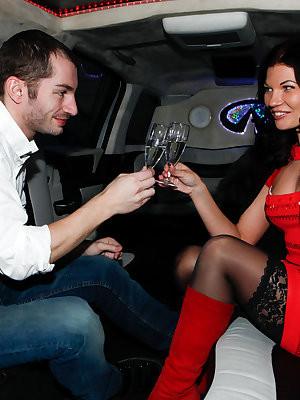 Moreover, this stunning brunette also loves getting her tight asshole pounded hard and wants to try it in the limo!