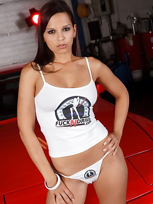 You've got to watch this if you wonder what such a hot girl can do all alone in the garage!