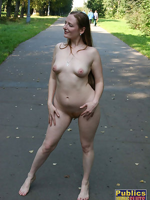 She's totally naked standing in public