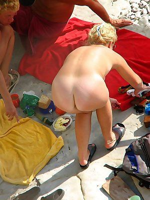 Nice spot for this hot milf to relax