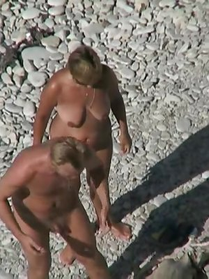 Sexy mature couple gets ready for some alone action