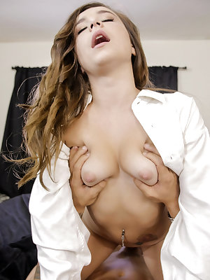 Kharlie Stone can't keep her hands off her bra-covered tits or her thong-covered twat as she tries on her boyfriend's shirt. Soon she has peeled off everything but the shirt so that she can go to town masturbating her lusty bald fuck hole while dreaming o