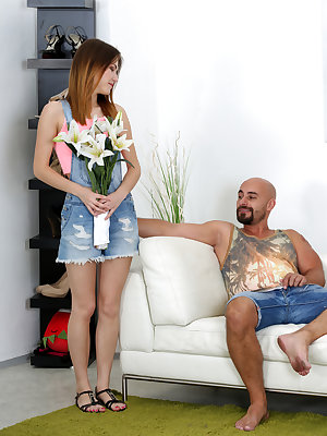 When Ginger Fox decides to let Neeo have his way with her, she knows she's in for a great time the moment he starts playing with her little tits. It's not long before she finds herself on her knees giving a long wet BJ. Her hands stroke Neeo's shaft as he